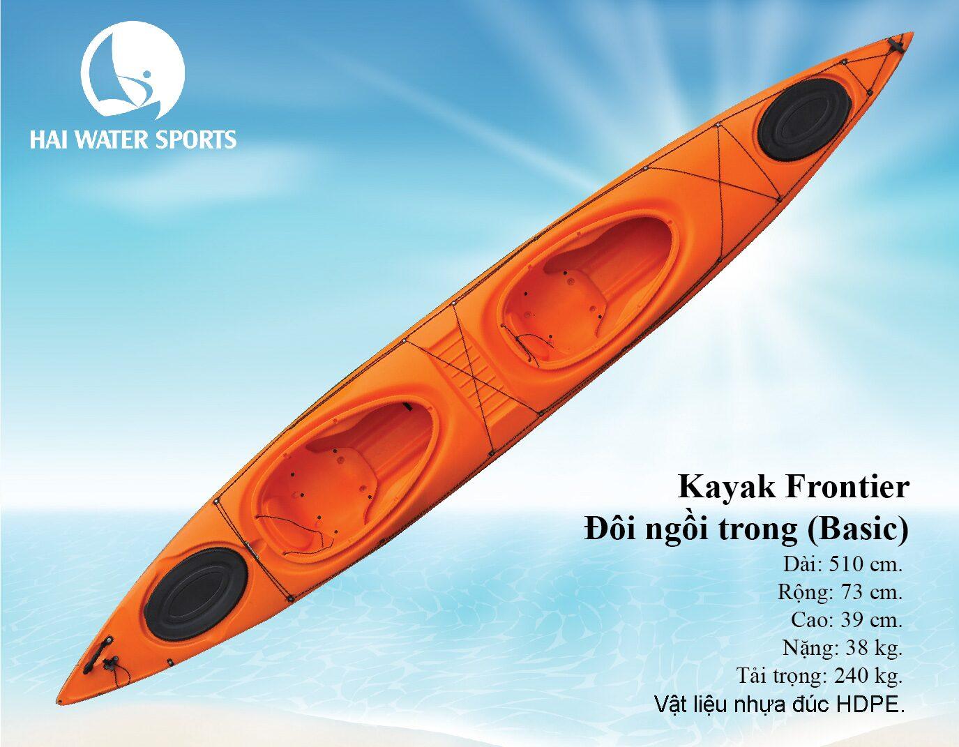 Thuyền Kayak đôi ngồi trong Frontier